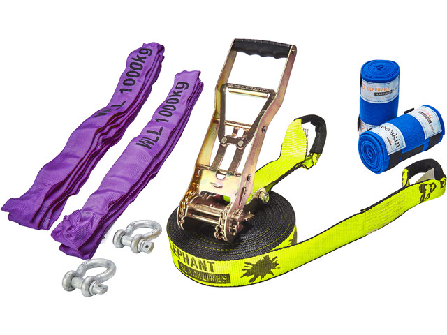 Elephant Slacklines Freak Flash'line Set 15 m, neon